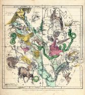 Constellations July - September, Atlas Designed to Illustrate the Geography of the Heavens 1835